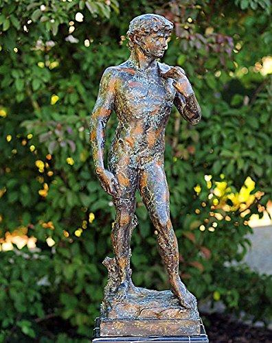 pompidu-living David 92 cm, Bronzefigur