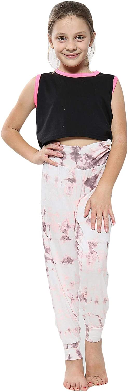 Kids Girls Ali Baba Harem Trouser Tie Dye Print Fashion Trendy Leggings 5-13 Yrs