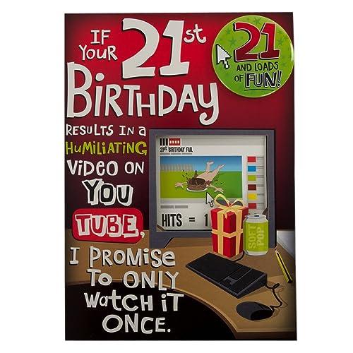 Hallmark 21st Birthday Card For Him Youtube