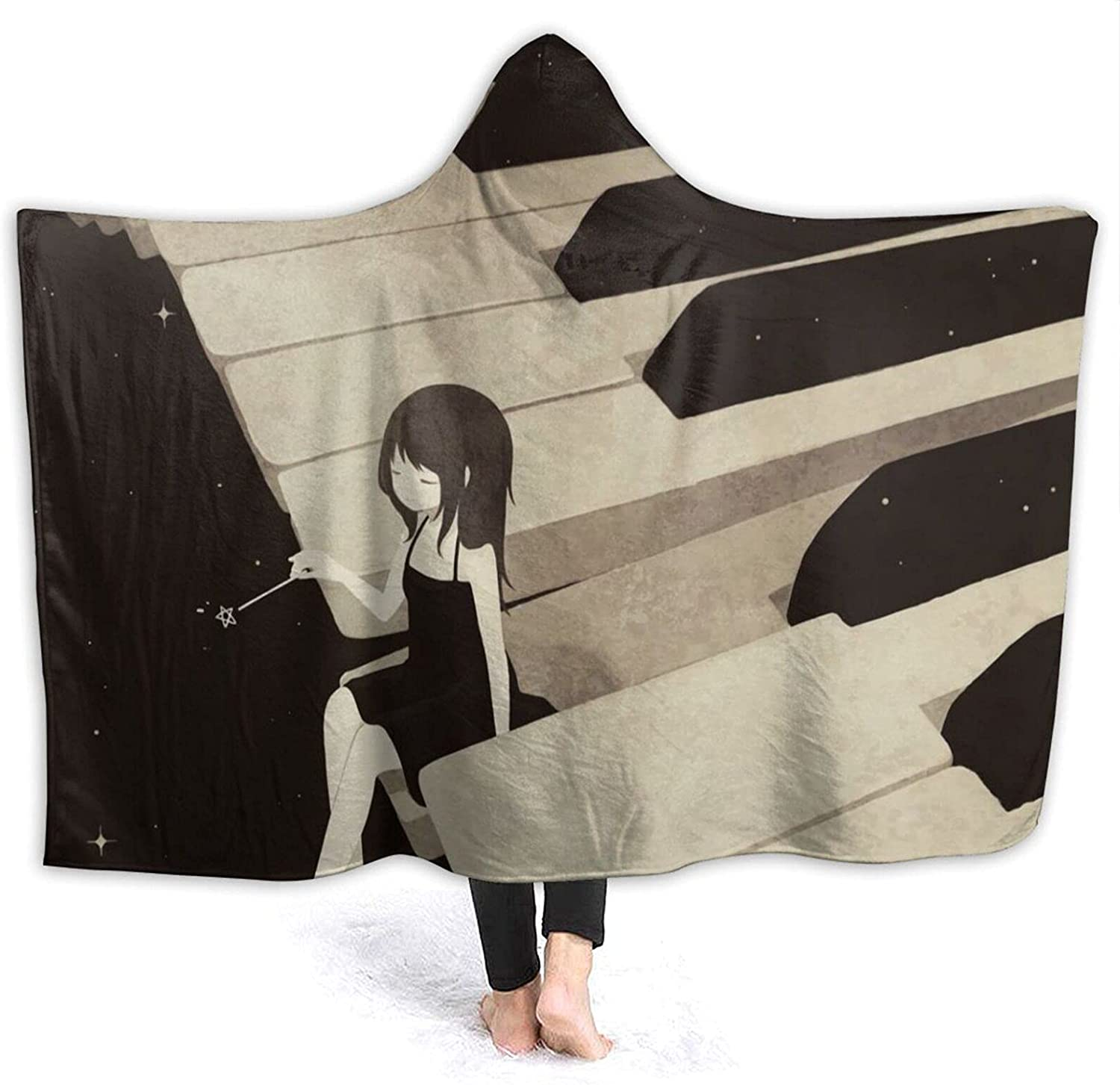 YX-Handsome Hooded Blanket Poncho Sof Sale Wrap with Over item handling Wearable