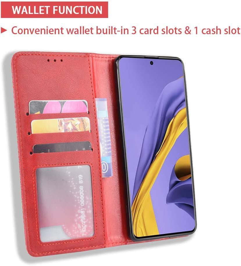 ALAMO Coque en R/étro Cuir pour Xiaomi Redmi Note 9T Premium Etui en Pochette avec Fentes pour Cartes et Esp/èces Marron