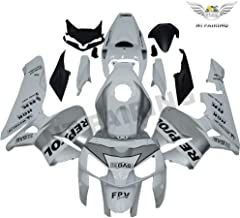 White Silver ABS Injection Fairing Plastic Fit for Honda 2005 2006 CBR600RR F5 aa46