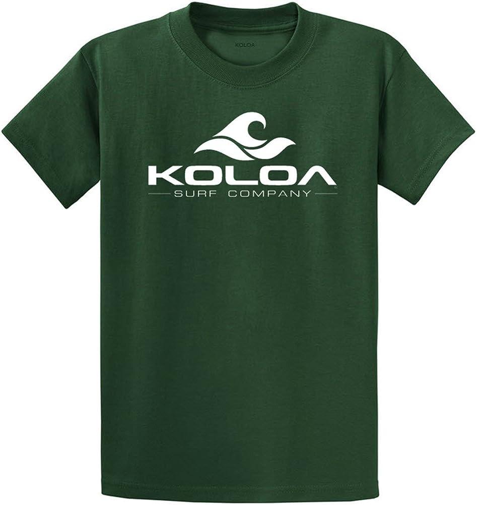 Koloa Surf Co. Wave Logo 50/50 Cotton Poly Blend T-Shirts X-Large Tall -XLT Dark Green