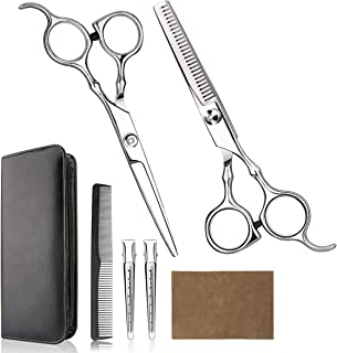 Hair Cutting Scissors Professional Home Haircutting Barber/Salon Thinning Shears Kit with..