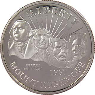 1991 S 50c Mount Rushmore Golden Commemorative Half Dollar US Coin Choice Proof