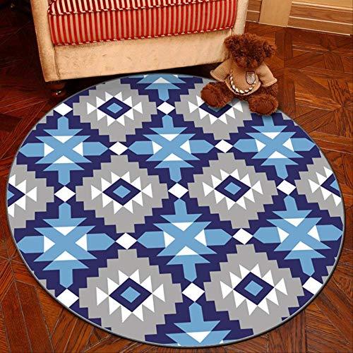 axnx Teppiche Graue Reihe Runde Teppiche Für Wohnzimmer-Computer-Bereich Teppich-Kind-Garderobe-Wolldecken Und Teppiche Spielen Zelt-Boden-Matte 40Cm Color12