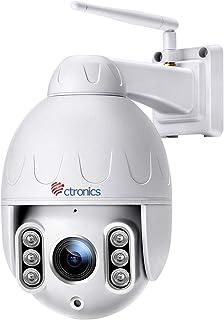 Telecamera Wifi Esterna senza fili, Ctronics 5MP PTZ IP Dome Telecamera di Sorveglianza, 5 X Zoom Ottico, Pan 360 °, Visio...