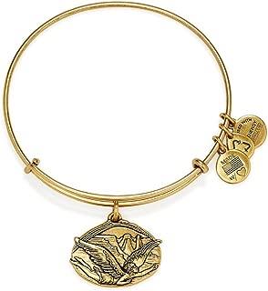 Alex and Ani Guardian of Freedom Charm Bangle Rafaelian Gold Finish Bracelet, A14EB88RG