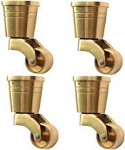 2pouces ,Applicable au Fond de Petits Equipements Zlovne 5X Pas de Tige roulettes,Castor Roues,roulettes Chaise Bureau,Diam/ètre50mm Circlip
