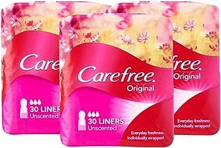 Carefree Pantyliner Original Unscented Value Pack, 30ct (Pack of 3)