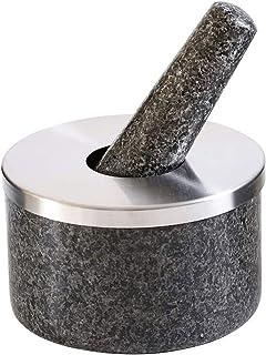 XTZJ Set de mortier et de pilonage, couverture en silicone et tapis, 5,45 pouces 17 oz 2.1 Cuisson Cupport, Coffre-fort de...