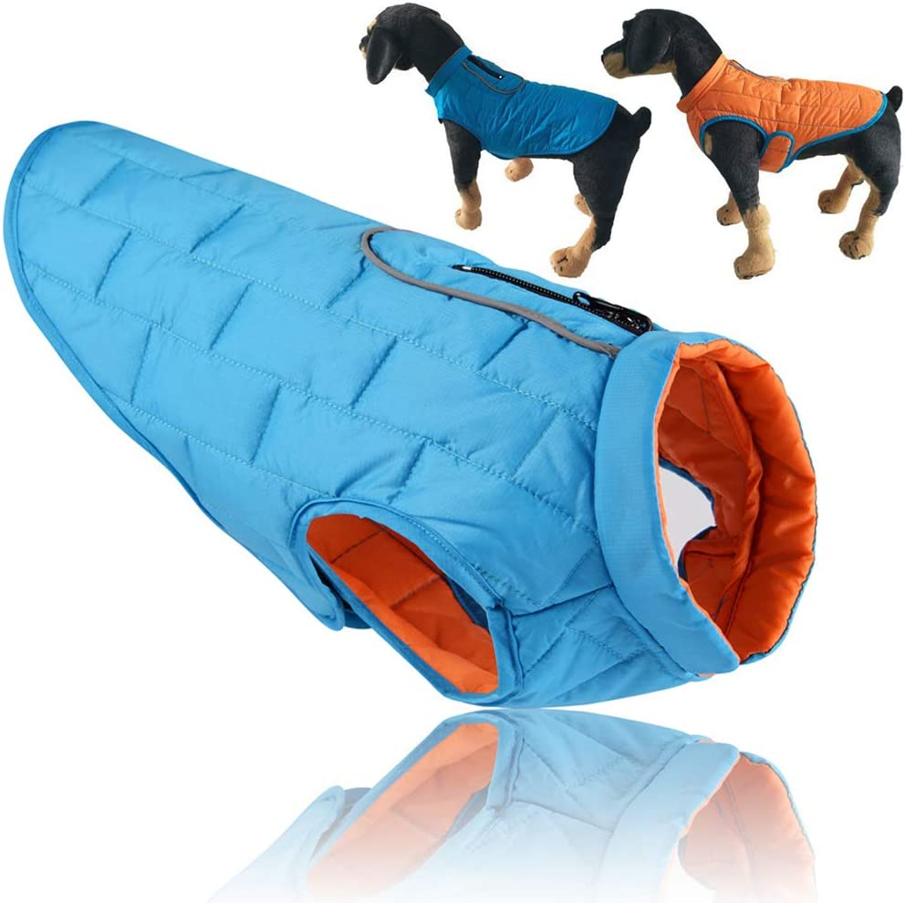 PJDDP We OFFer at cheap prices Dog Jacket Reversible Windproof D Winter Waterproof Max 50% OFF