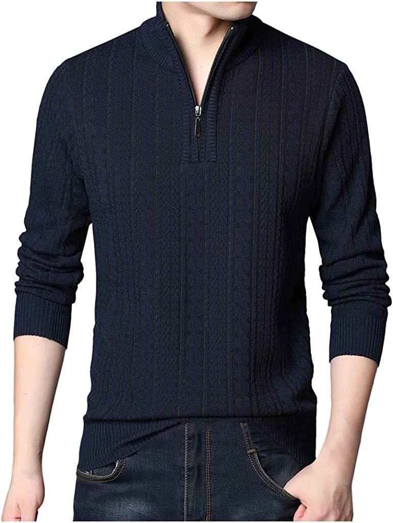 NotingBuss Men's Selling rankings Sweater Easy-to-use Pullover Slim Sleeve Knitted Long S Fit