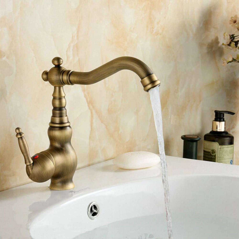 YHSGY Bathroom Sink Taps Antique Brass Swivel Basin Sink Mixer Tap Crane Kitchen Faucet