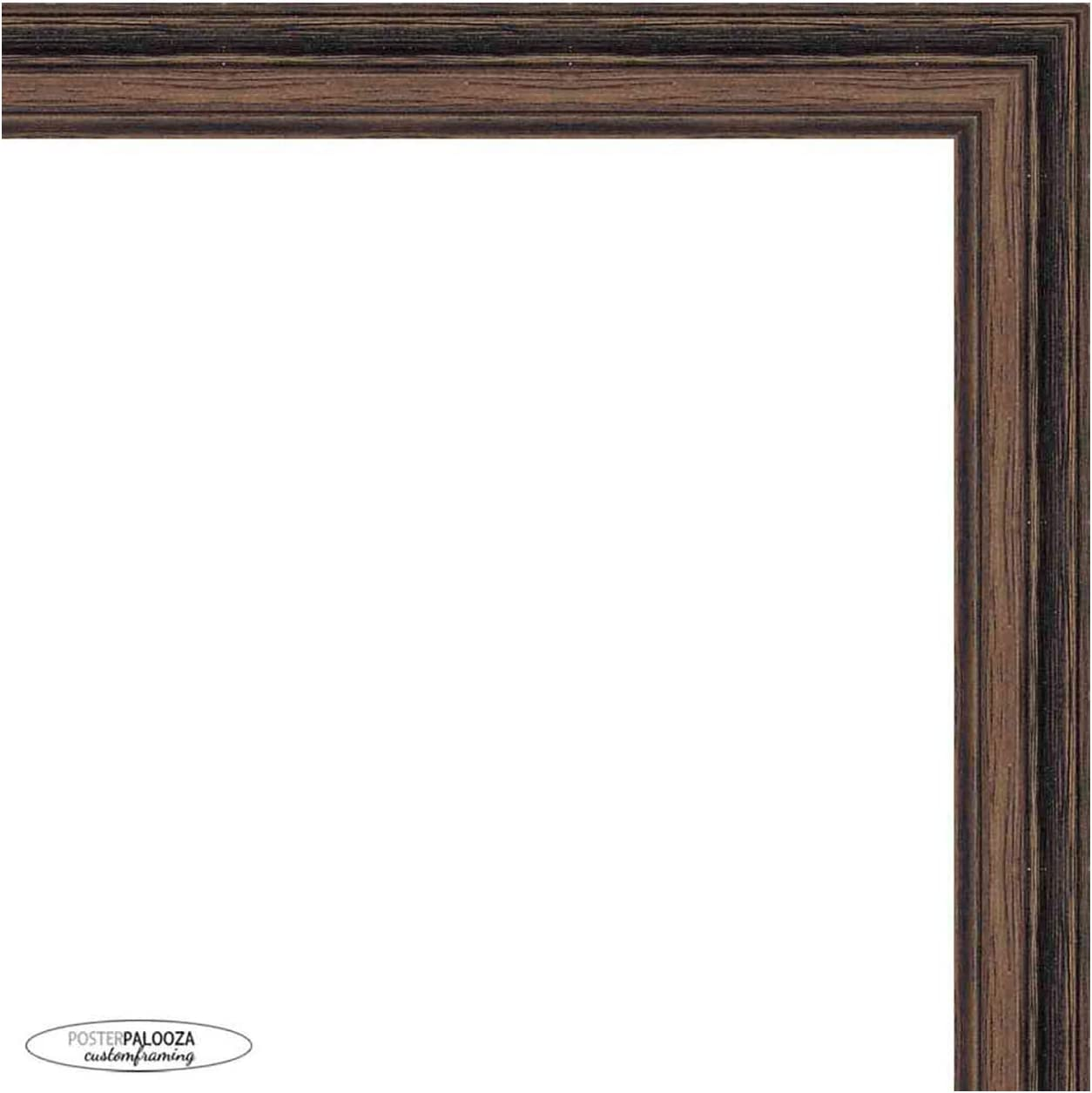 16x40 All stores are sold Rustic Walnut Wood Picture Panoramic - F Acrylic Frame UV Sale special price