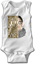 Xuanuan Notorious RBG Baby Boy Girl Sleeveless Baby Clothes Lovely Breathable White