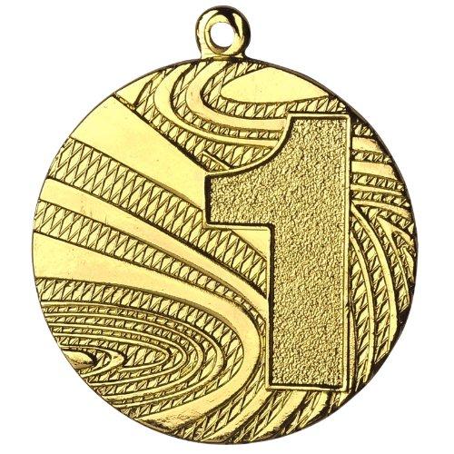 pokalspezialist 10 Stück Medaille Gold aus Stahl, 40mm Durchmesser und 2 mm Höhe.