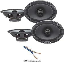 $132 » Alpine SPE-6090 Car Audio Type E 6x9 600 Watt Speakers - 2 Pair with 20' Wire Package