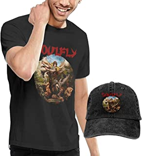 Dingtai Soulfly Archangel Men's Short Sleeve T Shirt and Adult Washed Cowboy Hat