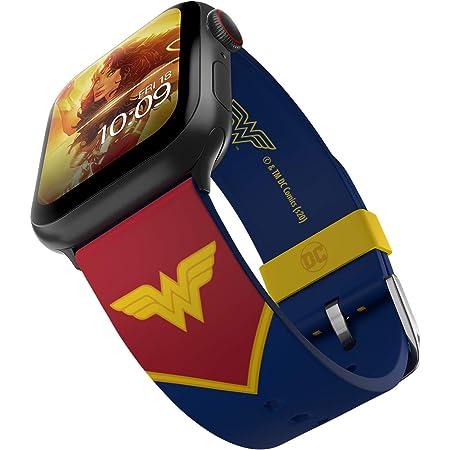 DC Comics - Wonder Woman Tactical Edition – Cinturino in silicone con licenza ufficiale compatibile con Apple Watch, adatto a 38 mm, 40 mm, 42 mm e 44 mm