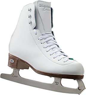 Riedell Skates - 119 Emerald - Women's Recreational Figure Ice Skates with Steel Luna Blade