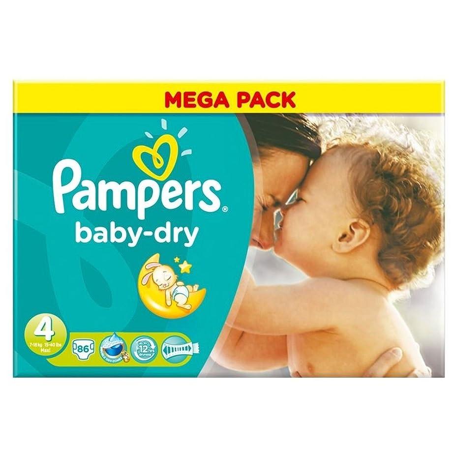 コウモリ積分ハムPampers Baby Dry Size 4 Maxi 7-18kg (86 per pack) パンパース赤ちゃんドライサイズ4マキシ7~18キロ(パックあたり86 )