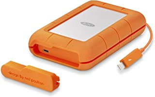 LaCie Rugged Thunderbolt USB-C 4 TB External Hard Drive Portable HDD – USB 3.0 Compatible, Drop Shock Dust Water Resistant...