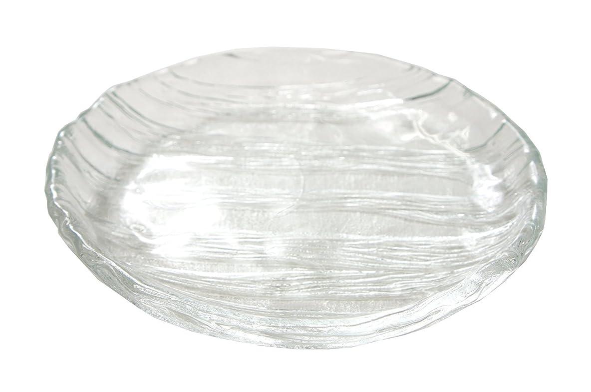 社交的に付ける緊張する東洋佐々木ガラス 大皿 クリア 約φ25×3.5cm 氷河 丸 日本製 SA530-1