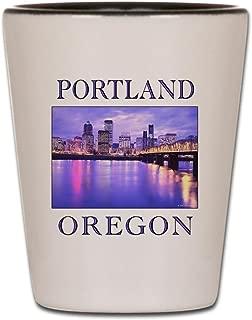CafePress - Portland_10T - Shot Glass, Unique and Funny Shot Glass