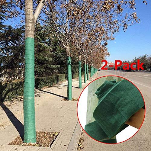 PROKTH 2 x Enveloppe protectrice d'arbre pour Garder au Chaud et hydratant l'hiver, Bandage d'enveloppement de Protection d'arbre Vert