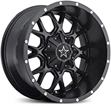 Dropstars DS645B Satin Black with CNC Milled Lip Accents and Chrome Star Cap Wheel - (18X9)