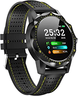 FVAL SmartWatch Reloj Inteligente, Monitor De Frecuencia CardíAca De Pantalla Grande De 1.3 Pulgadas Reloj Inteligente Deportivo Compatible con iOS Android