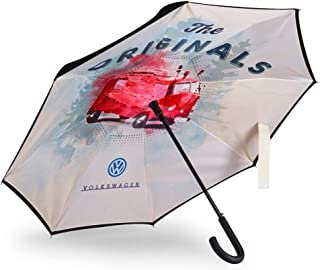 Volkswagen Volkswagen 1H2087600 Regenschirm T1 Bulli Motiv Schirm, Schwarz