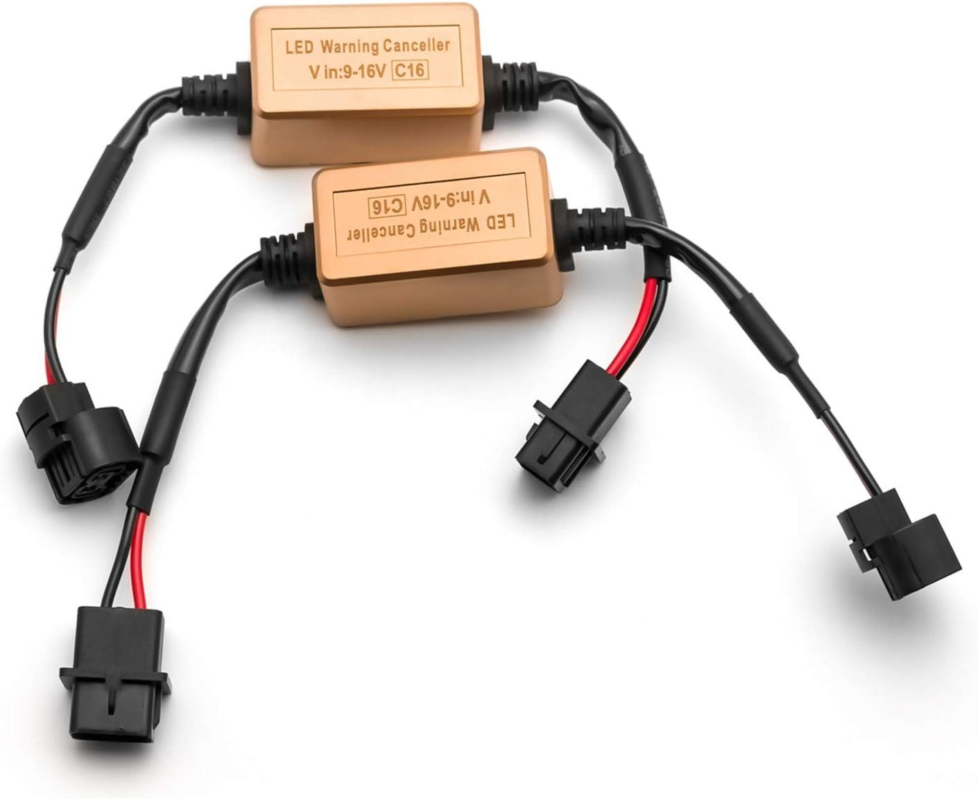 Xotic 5 ☆ popular Tech 2pcs 5202 H16 Houston Mall LED Resistor Fog Load Bulbs Anti- Light