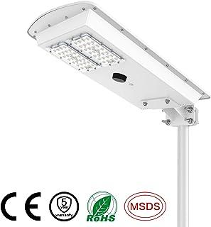 TENKOO Solar Street Lights, 30W Dusk to Dawn Outdoor Solar Powered Parking Light, Led Shoebox Pole Light, Integrated PIR Motion Sensor Light Sensor, 3500 Lumens, Waterproof IP65 Outdoor Lighting