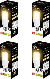 ドリスショップ LED電球 E26口金 T形 60W形相当 8W 電球色 800lm 全方向 電球形蛍光灯EFD15代替推奨 断熱材施工器具対応 密閉形器具対応 4個入