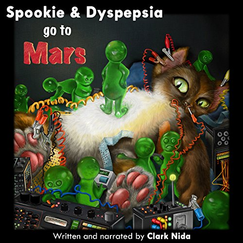 Spookie & Dyspepsia go to Mars audiobook cover art