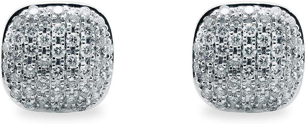 B.&c. gioielli orecchini donna in oro bianco 18 kt (750) e diamanti taglio brillante gvs orecchini04
