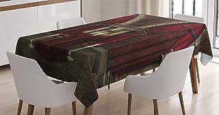 ABAKUHAUS Gothique Nappe, Château Chambre mystérieuse, Linge de Table Rectangulaire pour Salle à Manger Décor de Cuisine, ...
