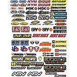 ADESIVI MOTO SPONSOR 73 Pz Sticker Motocross Grafiche Bici Mtb Computer Motorino Kit Modellismo VINILE LUCIDO Marche Famose Pack