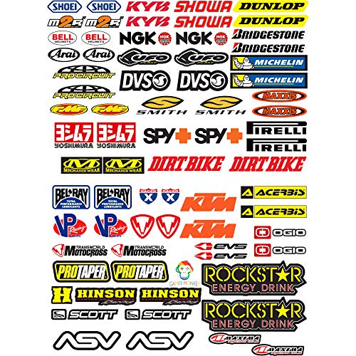 KIT Sticker Aufkleber - Stickers KIT PER Moto Motocross 73PCS - gesamte Panel 73pcs...