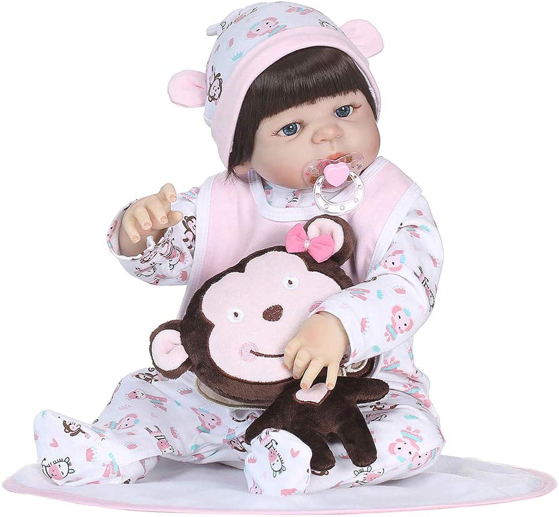 0Miaxudh Reborn-Puppe, 56cm Vinyl Silikon Reborn Baby Doll, lebensechtes Schlafen Spielzeug, Kinder begleiten Geschenk