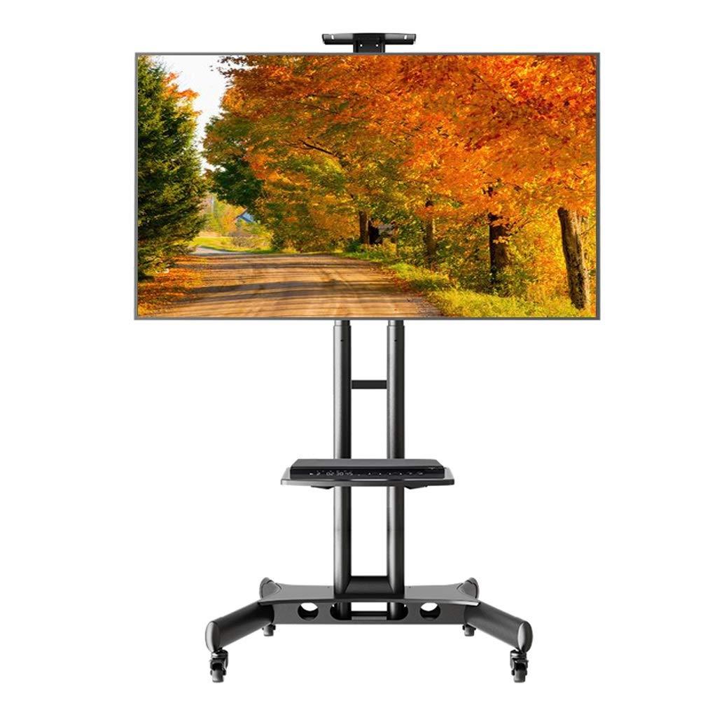 ZAQI Soporte TV Trole Soporte para TV de Piso Plano con Ruedas Moblile con Ruedas con Ruedas y Estante de Audio para 32/40/42/47/50/55/60/65 Pulgadas LCD LED OLED QLED televisores de Panel Plano: