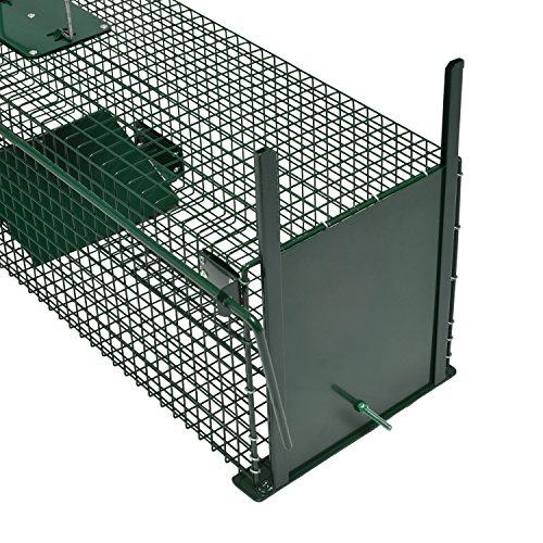 Moorland Piège de Capture - Cage -XL - pour Petits Animaux : Lapins, Chats, martres, fouines - 100x25x25cm - Deux entrées - 5007