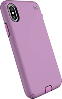 Speck Products Compatible Phone Case for Apple iPhone Xs and iPhone X, Presidio Sport Case, Bellflower Purple/Slate Grey/Petal Pink