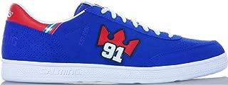 Salming NinetyOne Shoe 91 Indoor Handball Shoes Goalkeeper Sneaker blue/red/white, EU Shoe Size:44 2/3 EU