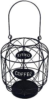 MagiDeal Café Gousses Titulaire Panier de Rangement Espresso Café Gousses Gardien Comptoir de Cuisine Porteurs de Stockag...