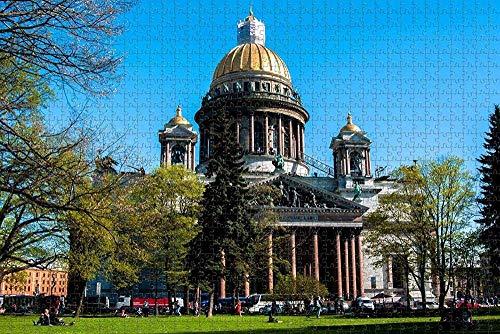 BZAHW Puzzle 1000 einzelteile Impossible Puzzle geschicklichkeitsspiel St. Isaac's Square, St. Petersburg, Russland für Erwachsene Kinder Puzzle unmögliche sehr