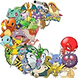 Cartoon Stickers[100pcs] Animals Monsters Sticker for Kids Toddlers Children Teen Computers Laptop Skins Vinyl Decals for Hydro Flask Water Bottles Bike Luggage (Poke100)