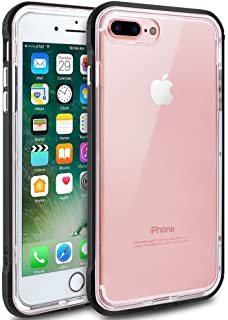 iPhone 7 Plus Case, iPhone 8 Plus Case, LOEV [Raised Lip Design] [Crystal Clear] Anti-Scratch & Shock-Absorbing Protective Case TPU + PC Bumper Cover for Apple iPhone 7/8 Plus 5.5